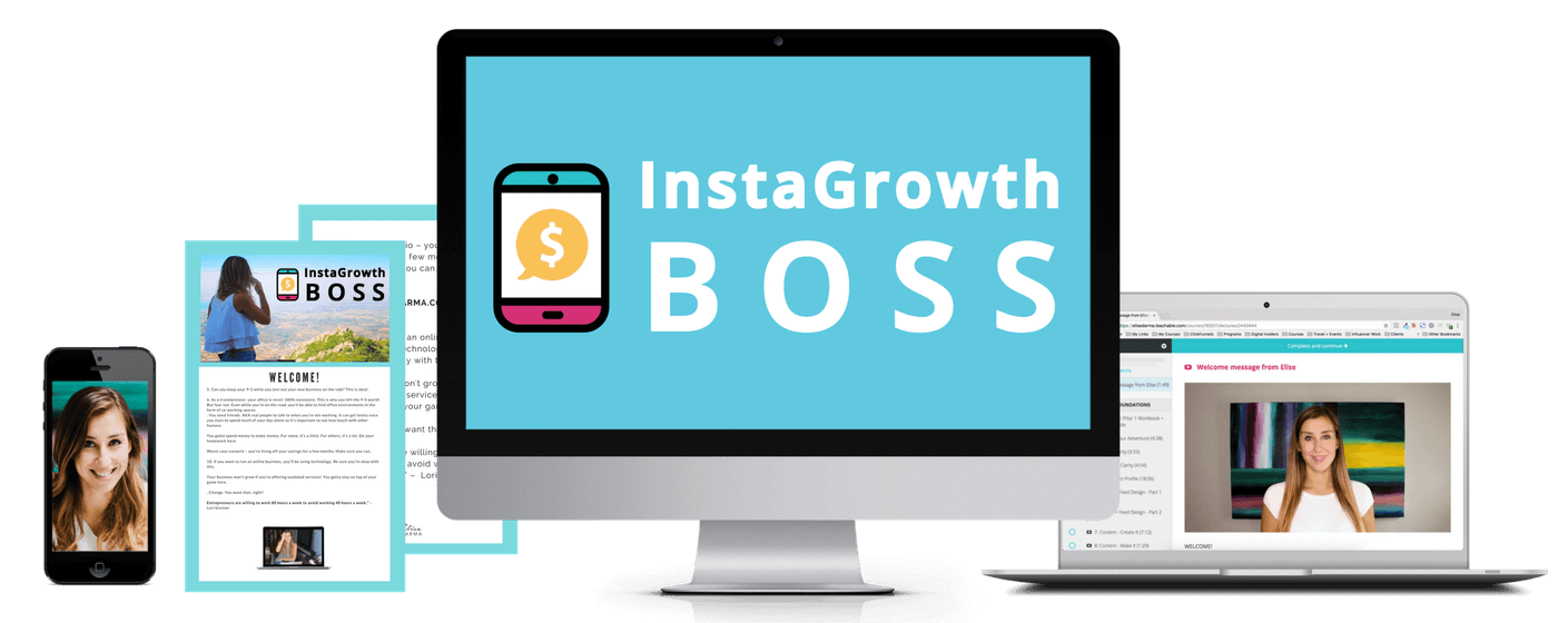 InstaGrowth Boss will teach you how to be the boss of your business, brand and influence.
